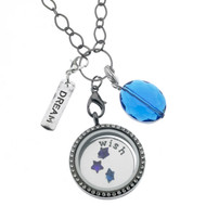 Floating Locket Necklace - Wish Upon a Star