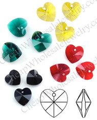 Swarovski Crystal Hearts - 6202 - 14MM