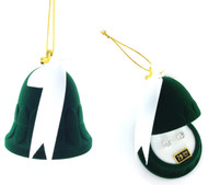 CZ Earrings in Bell Gift Box - Green