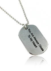 Always Close To My Heart Dog Tag Necklace
