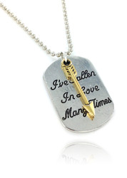 Always with You Double Pendant Dog Tag Necklace