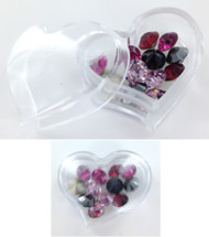 Plastic Bead Container - Heart