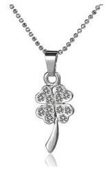 Crystallized Necklace - Clover