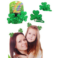 Shamrock Hair Barrettes