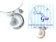 Gabby & Gia Bracelet - I Love You To The Moon and Back 2 Charms