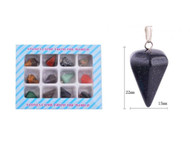 Genuine Stone Cone Pendants by the Dozen