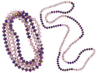 "42"" Amethyst Crystal Necklace Wholesale"