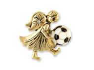 Wholesale Angel of Soccer Pin