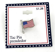 Wholesale American Flag Tac Pins - 100 Pieces