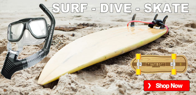 Surfing gear - Dive gear - Skate