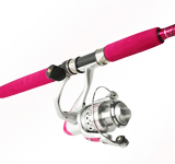 Pink Fishing Rod and Reel Combos