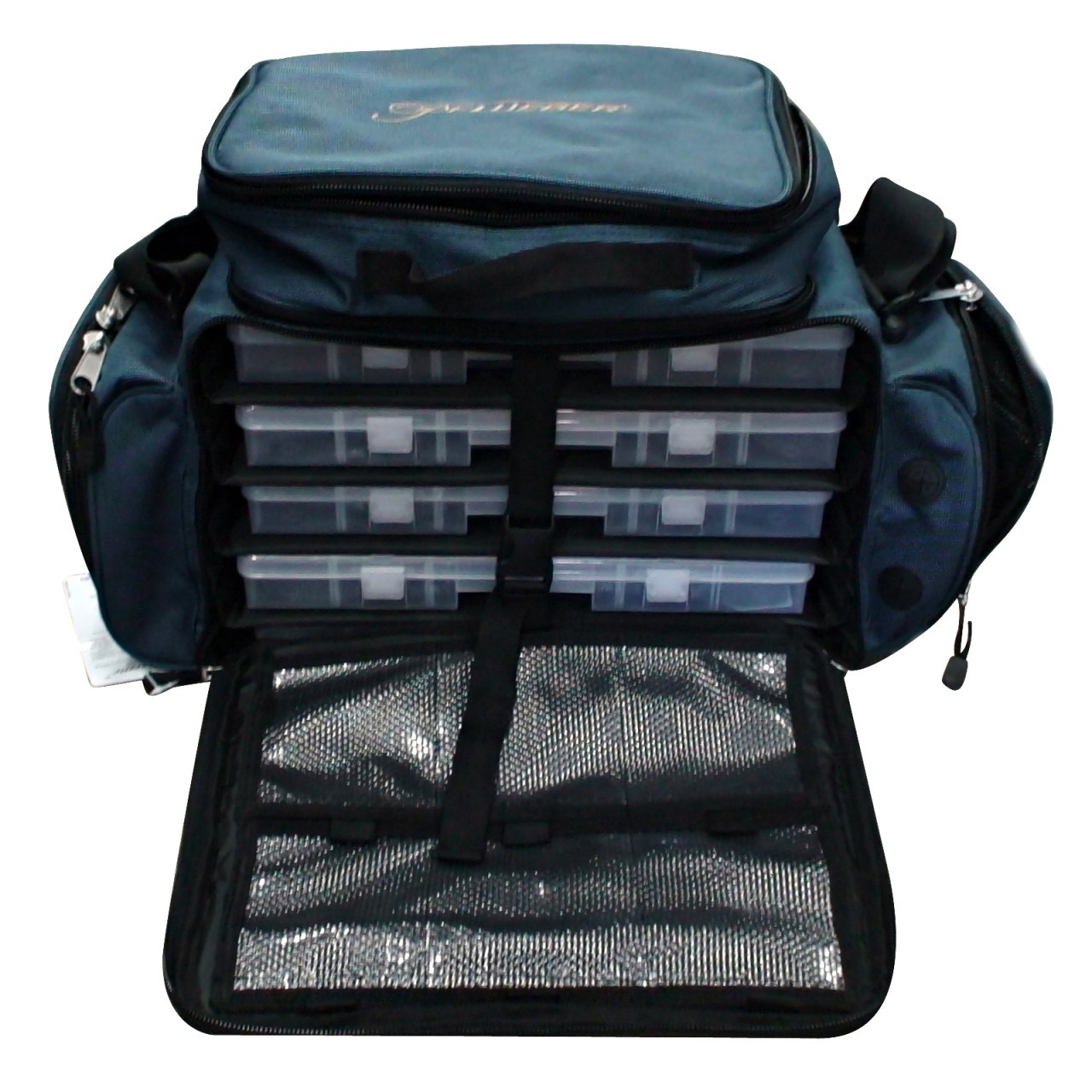Pflueger supreme tackle bag deluxe fishing tackle storage for Fishing tackle bag