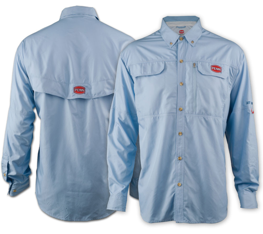 Penn vented shirts performance fishing apparel for Fishing apparel hats