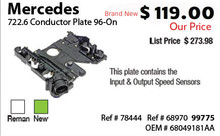 Mercedes 722.6 Conductor Plate 96-On