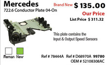 Mercedes Conductor Plate 2005-On