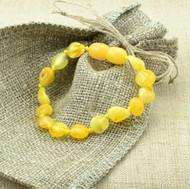 Amber teething bracelet,
