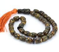Islamic 33 Baltic Amber Rrayer Tube Beads