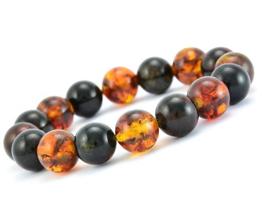 Baltic amber beaded bracelet