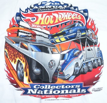 7th Hot Wheels Collectors Nationals souvenir t-shirt - artwork on the back