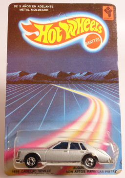 Rare Venezuela Hot Wheels Cadillac Seville still on the blister