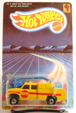 Rare, still on the blister, Venezuela Hot Wheels Telephone Truck