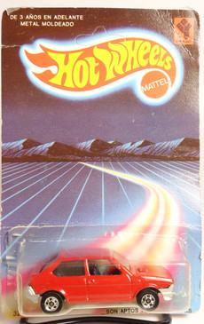 Rare Venezuela Hot Wheels Fiat Ritmo in bright Red on the blister