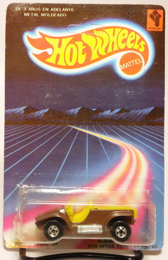 Very hard to find Venezuela Hot Wheels Sand Drifter in Brown with the bright Yellow interior