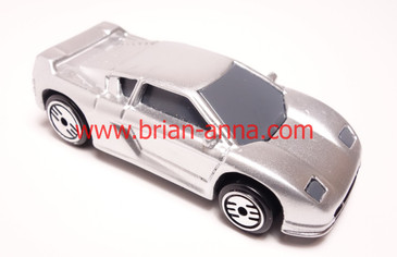Hot Wheels Prototype Zender Fact 4 in Silver with blank base