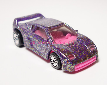 Hot Wheels Prototype of Zender Fact 4 with a pink plastic base and interior