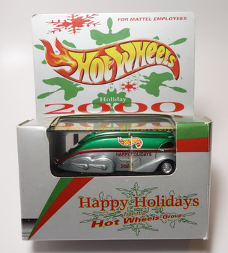 Hot Wheels Mattel Employee 2000 Christmas Holiday Car Rocket Oil