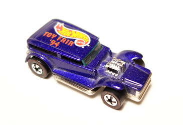 Hot Wheels 1994 New York Toy Fair featuring the Hot Wheels Demon in metalflake blue