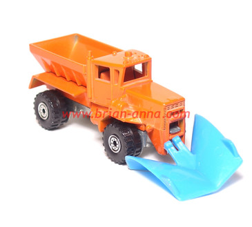Hot Wheels Oshkosh Snowplow Prototype with Blue Plastic Plow