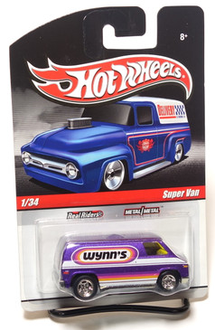 Hot Wheels Delivery Series, Wynn's Super Van in Metalflake Purple