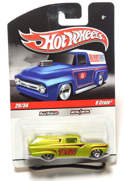 2010 Hot Wheels Delivery Series, TRW 8 Crate in Metalflake Green