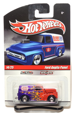 2010 Hot Wheels Delivery Series, Hedman Hedders, Ford Anglia Panel, Red to Purple