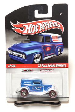 2010 Hot Wheels Delivery Series, B&M Shifters '32 Ford Sedan Delivery in Blue/White