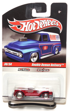 2010 Hot Wheels Delivery Series, Kendall Motor Oil Double Demon Red/Silver