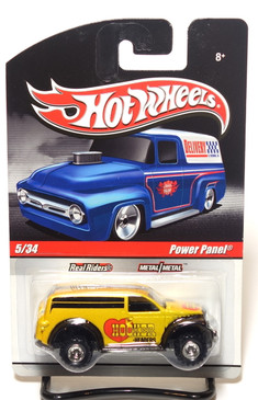 2010 Hot Wheels Delivery Series, Hooker Headers Power Panel Truck in Yellow/Gold
