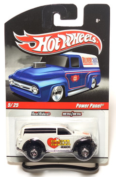 2010 Hot Wheels Delivery Series, Hooker Headers Power Panel Truck in Pearl White
