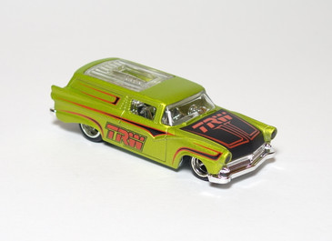 2010 Hot Wheels Delivery Series, TRW 8 Crate in Green, mint loose