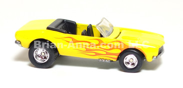 Hot Wheels Ultra Hot Series '67 Chevy Camaro Convertible, Yellow with Flames, Centerline wheels, LOOSE