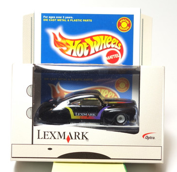 Hot Wheels Tail Dragger in Black with Lexmark tampos, Exclusive Promotional