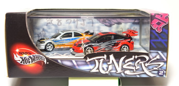 100% Hot Wheels Tuners Honda Civic - Acura RSX 2-car set, issued in 2004