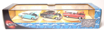 100% Hot Wheels Tri Fives 3-car set, issued back in 2001