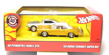 Hot Wheels Mopar Muscle 2-car set, Hemi GTX & Coronet Super Bee