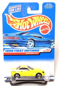 Hot Wheels 1998 First Edition Coll#646 Mercedes SLK with Black Plastic interior