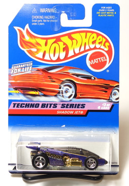 Hot Wheels 1998 First Edition Coll#691 Techno Bits Shadow Jet, unpainted base, tinted canopy