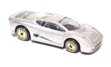 Hot Wheels Jaguar XJ220 Metalflake Silver, Gold Medal Speed Edition, mint loose