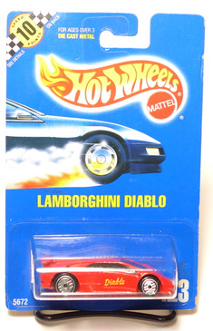 Hot Wheels Collector #123, Lamborghini Diablo Red UH wheels, BP