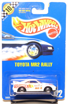 Hot Wheels Coll #122 Toyota MR2 Rally, HOC wheels, BP